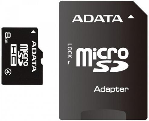 все цены на Карта памяти 8GB MicroSDHC Class 4 ADATA + адаптер