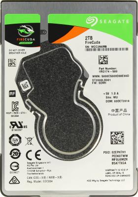 "Жесткий диск для ноутбука 2.5"" 2Tb 5400rpm 128Mb cache Seagate Firecuda SATAIII ST2000LX001 из ремонта"