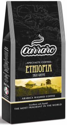 Кофе молотый Carraro Ethiopia 250 грамм кофе зерновой carraro crema espresso 1 кг