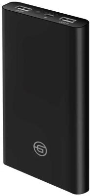 Внешний аккумулятор Ginzzu GB-3915B, 15,0Ah/5V/2.4A/2USB, черный