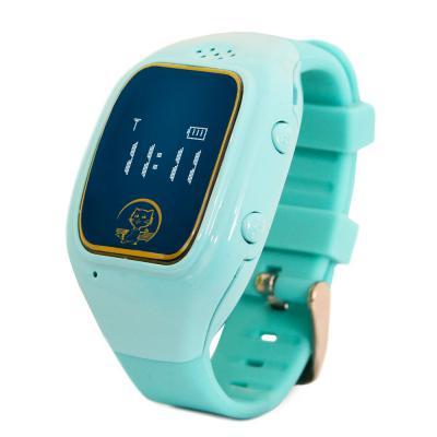 """Умные часы детские GiNZZU GZ-511 blue, 0.66"""", micro-SIM, GPS/LBS/WiFi-геолокация, датчик снятия с руки недорого"""