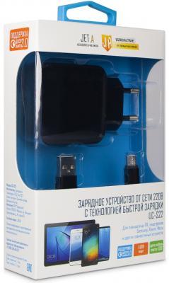 Фото - Сетевое зарядное устройство Jet.A UC-S22 microUSB 3 А черный зарядное