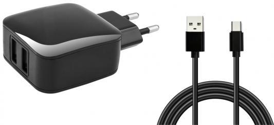 Сетевое зарядное устройство Jet.A UC-C18 USB-C 1/2.4 А черный сетевое зарядное устройство moshi progeo usb type c