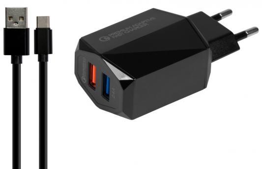 Сетевое зарядное устройство Jet.A UC-C23 USB-C 3/2.4 A черный сетевое зарядное устройство moshi progeo usb type c