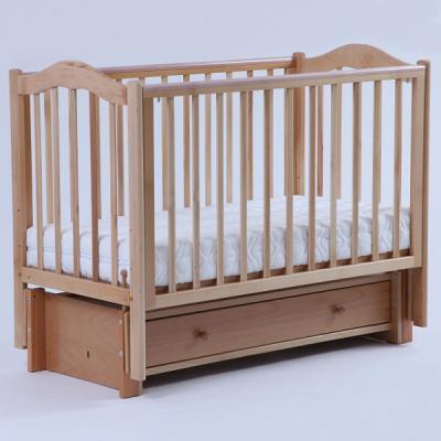 Кроватка с маятником Кубаночка-1 БИ 37 (натуральный бук) кроватка с маятником кубаночка 1 би 37 2 слоновая кость