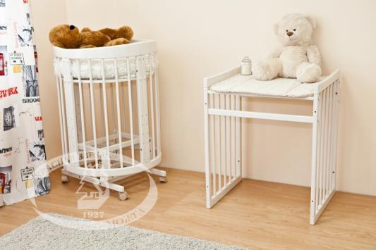 Купить Кроватка-диван Красная Звезда Паулина-2 С422 (серый), Красная звезда, береза, Кроватки без укачивания