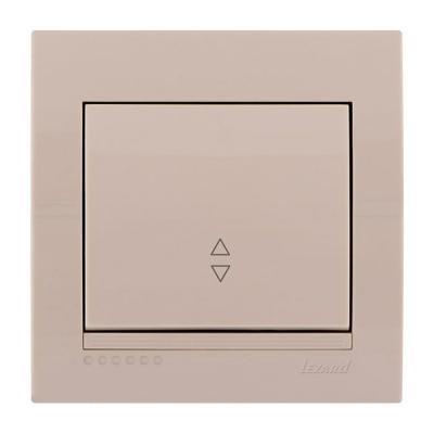 Выключатель LEZARD 702-0303-105 проходной серия скр.проводки Дери кремовый