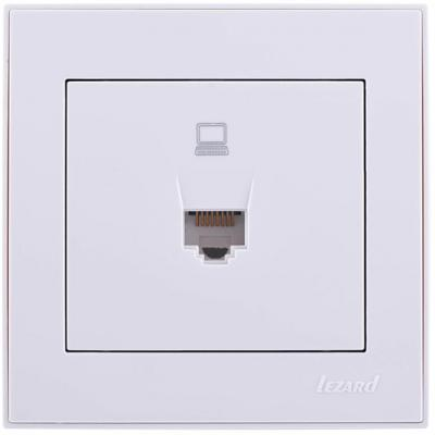 Розетка LEZARD 703-0202-139 серия скр.проводки Рейн компьютерная белый с белой вставкой
