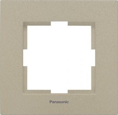 Рамка PANASONIC WKTF0801-2BR-RES Karre Plus 1м бронза рамка panasonic wktf0804 2sl res karre plus 6м горизонтальная белая