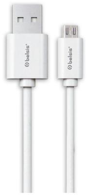 Кабель Belsis USB 2.0, A - MicroUSB, вилка - вилка, 0.95 м., белый, BS3013 кабель usb 2 0 a вилка usb b вилка 3 м