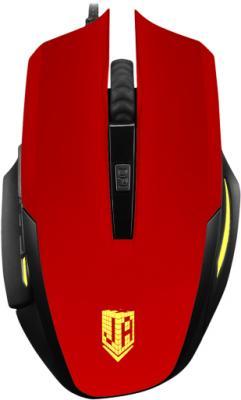 Мышь проводная Jet.A Comfort OM-U54 LED красный USB