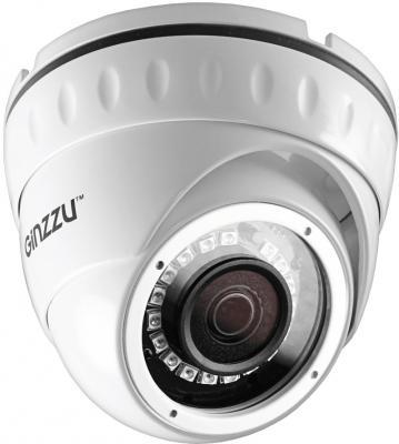 Камера Видеонаблюдения GINZZU HID-2031S IP 2.0Mp Sony 323, 3.6mm,куп,IR 20м,IP66,мет ip камера ginzzu hwb 1031x