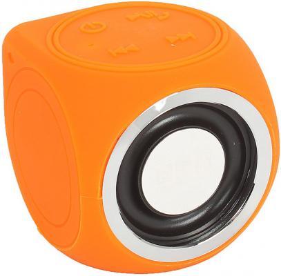 Портативная беспроводная музыкальная колонка CW Cubic Box (цвет оранжевый, карабин и USB кабель в комплекте) музыкальная колонка atlanfa at 8925