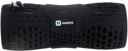 Беспроводная BT-Колонка HARPER PS-045 black (Bluetooth/Влагозащита IPX6/до 7 часов/2x3 Вт/микрофон)