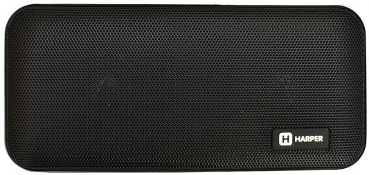 Портативная колонка HARPER PSPB-200 Black Беспроводная акустика / 2 x 5 Вт / 180 - 18000 Гц / Bluetooth 4.2 / microSD портативная колонка harper pspb 200 white беспроводная акустика 2 x 5 вт 180 18000 гц bluetooth 4 2 microsd