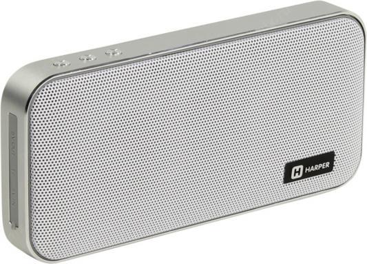 Портативная колонка HARPER PSPB-200 White Беспроводная акустика / 2 x 5 Вт / 180 - 18000 Гц / Bluetooth 4.2 / microSD портативная колонка harper pspb 200 white беспроводная акустика 2 x 5 вт 180 18000 гц bluetooth 4 2 microsd