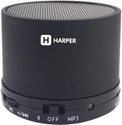Беспроводная BT-Колонка HARPER PS-012 black беспроводная bt колонка harper ps 045 black bluetooth влагозащита ipx6 до 7 часов 2x3 вт микрофон