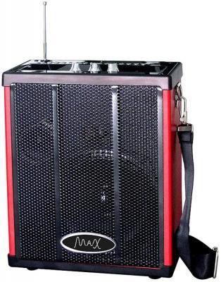 Портативная колонка MAX Q71 Black/Red Беспроводная акустика / 20 Вт / 100 - 18000 Гц / Bluetooth / microSD портативная колонка harper pspb 200 white беспроводная акустика 2 x 5 вт 180 18000 гц bluetooth 4 2 microsd