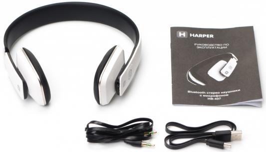 Наушники HARPER HB-407 white jjc hb 32 lens hood for nikkor lens compatible with nikon hb 32