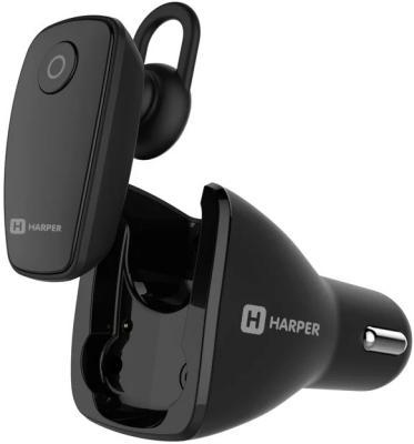 Гарнитура беспроводная плюс автомобильная зарядка HARPER HBT-1723 black автомобильная магнитная зарядка neekin energy w1 с ароматизатором 14621 черный
