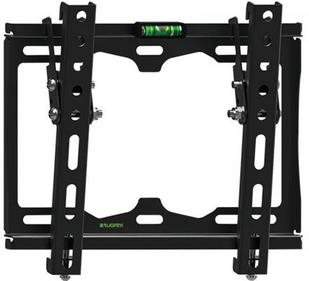 Кронштейн Tuarex OLIMP-116 black, настенный для TV 15-48, от стены 25мм, угол 0-12, макс 35кг, VESA 200x200