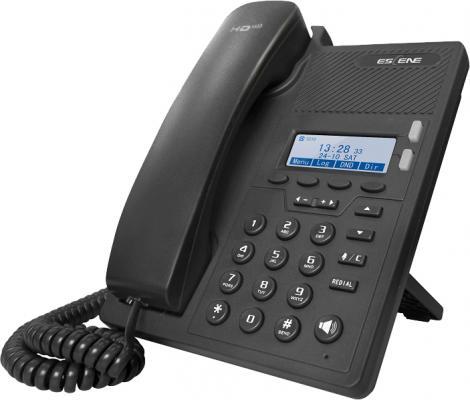 SIP-телефон Escene ES205-N с б/п 2 SIP аккаунта, 128x64 LCD-дисплей, 4 программируемы клавиши, XML/LDAP, регулируемая подставка, 2xRJ45, EP+ приложени термокружка для путешествий click n sip™ черная вакуумная carl oscar click n sip™