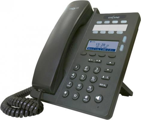 SIP-телефон Escene ES206-N с б/п 2 SIP аккаунта, 128x64 LCD-дисплей, 4 программируемы клавиши + 8 клавиш быстрого набора BLF, XML/LDAP, регулируемая п термокружка для путешествий click n sip™ черная вакуумная carl oscar click n sip™