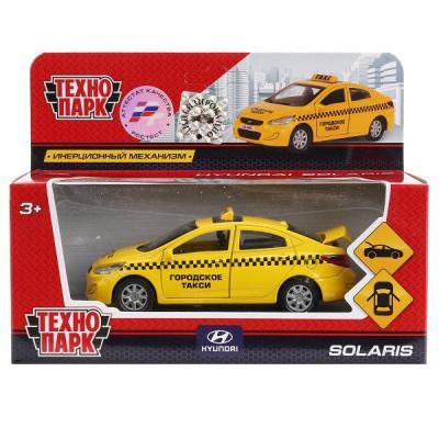 Купить Автомобиль Технопарк HYUNDAI SOLARIS ТАКСИ желтый SOLARIS-TAXI, ТЕХНОПАРК, Детские модели машинок