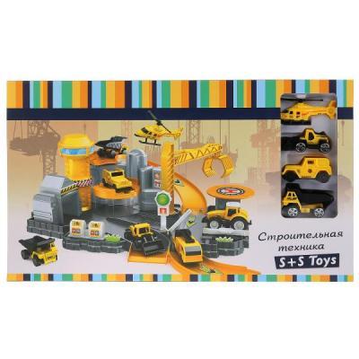 Парковка со строительной техникой (3 машинки + вертолет) в кор. в кор.2*12шт hld toys игровой набор парковка 3