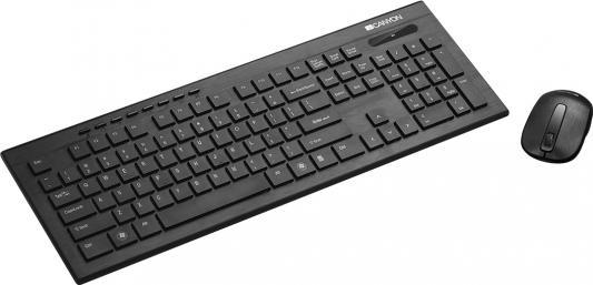 Клавиатура CANYON CNS-HSETW4RU клавиатура беспроводная, 104 клавиши / мышь: беспроводная, оптическая, 1600dpi, 2 кнопки + кнопка-колесо цена и фото