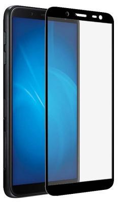 Закаленное стекло с цветной рамкой (fullscreen) для Samsung Galaxy J8 (2018) DF sColor-52 (black) закаленное стекло 3d с цветной рамкой fullscreen для samsung galaxy s9 plus df scolor 35 black