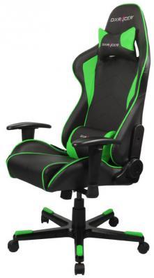 все цены на Игровое кресло DXRacer Formula чёрно-зелёное (OH/FE08/NE, экокожа, регулируемый угол наклона)