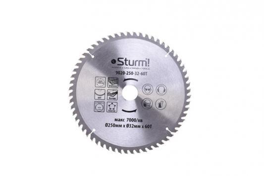 Диск пильный твердосплавный STURM! 9020-250-32-60T 250x32x60 зубов с переход. кольцом на 30мм заклепочник sturm 1070 07 250