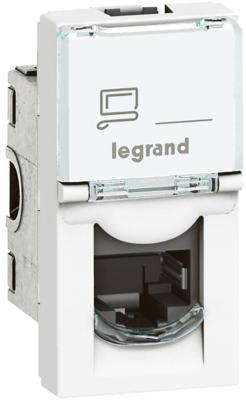 Legrand 076573 РОЗЕТКА RJ 45 - ПРОГРАММА MOSAIC - КАТЕГОРИЯ 6А - STP/FTP 9 контактов - 1 МОДУЛЬ - БЕЛЫЙ - LCS2 розетка legrand mosaic rj 45 utp кат 5e 1 модуль белый lcs2 76551
