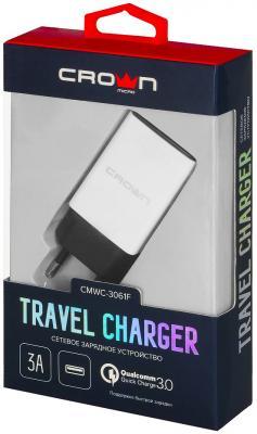 Сетевое зарядное устройство CROWN CMWC-3061F 3/2/1.5 А белый сетевое зарядное устройство crown cmwc 3061f qc 3 0 3a белое