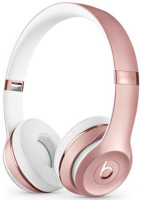 Гарнитура Apple Beats Solo3 розовое золото MNET2EE/A beats solo3 беспроводная гарнитура bluetooth гарнитура гарнитура для гарнитуры для мобильных телефонов розовое золото mnet2pa a