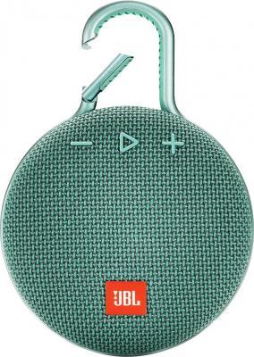 Фото - Колонка порт. JBL Clip 3 светло-зеленый 3.3W 1.0 BT 1000mAh (JBLCLIP3TEAL) портативная колонка jbl clip 2 teal