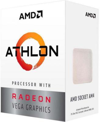 Процессор AMD Athlon 200GE AM4 (YD200GC6FBBOX) (3.2GHz/100MHz/Radeon Vega 3) Box процессор amd athlon x4 840k fm2 ad840xybjabox 3 1ghz 5000mhz box