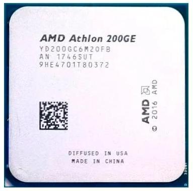 Процессор AMD Athlon 200GE AM4 (YD200GC6M2OFB) (3.2GHz/100MHz/Radeon Vega 3) OEM