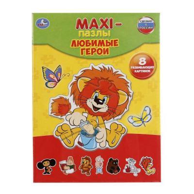 Купить Пазл 8 элементов УМКА ЛЮБИМЫЕ ГЕРОИ 4690590123386, Пазлы для малышей