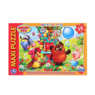 Купить Пазл 15 элементов УМКА ВИННИ-ПУХ 4690590112830, Пазлы для малышей