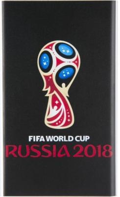 Мобильный аккумулятор Redline J01 FIFA Кубок Li-Pol 4000mAh 1A черный 1xUSB мобильный аккумулятор buro rcl 5000 gw li pol 5000mah 1a зеленый белый 1xusb