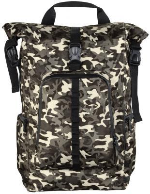 Рюкзак для ноутбука 15.6 HAMA Roll-Top полиэстер камуфляж коричневый 00101819 сумка для ноутбука 15 6 hama florence ii полиэстер серый 00101569