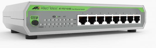 Коммутатор Allied Telesis AT-FS710/8E-60 8x100Mb неуправляемый коммутатор allied telesis at fs710 24 50 24x100mb неуправляемый