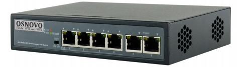 Коммутатор Osnovo SW-20600/B(60W) коммутатор osnovo sw 60802 ic 8 портов 10 100 1000mbps