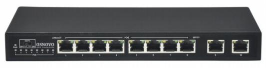 Коммутатор Osnovo SW-20820/B(96W) коммутатор osnovo sw 60802 ic 8 портов 10 100 1000mbps