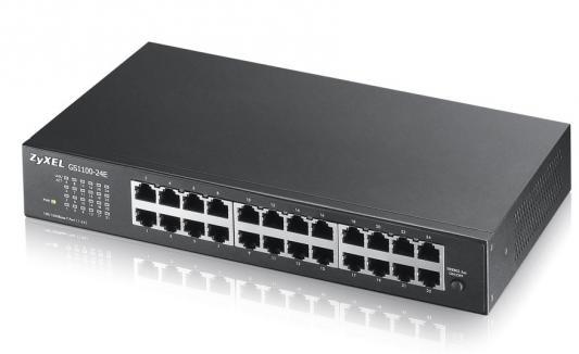 лучшая цена Коммутатор Zyxel GS1100-24E GS1100-24E-EU0101F 24G неуправляемый