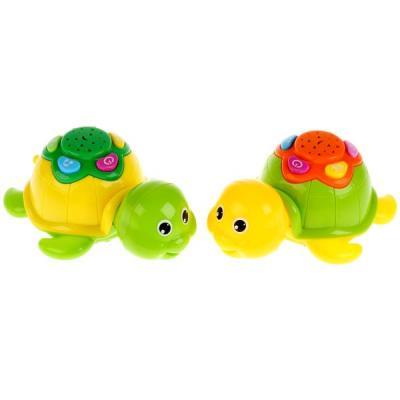 Купить Игрушка на бат. черепаха, свет+звук, цвет в ассорт. ZYK-073J в пак. (русс. уп.) в кор.2*72шт, Zhorya, разноцветный, пластик, унисекс, Игрушки со звуком