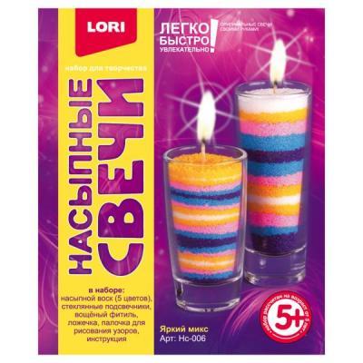Купить НАСЫПНЫЕ СВЕЧИ ЯРКИЙ МИКС в кор.12шт, Lori, Изготовление мыла и свечей