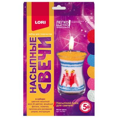 Купить НАСЫПНОЙ ВОСК ДЛЯ СВЕЧЕЙ МАГИЯ ЦВЕТА в кор.16шт, Lori, Изготовление мыла и свечей